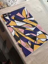 Minnesota Vikings Abstract Starter Mat Area Rug New With Tags!!
