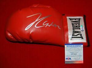 JULIO CESAR CHAVEZ SR signed Everlast laced boxing glove PSA COA 3