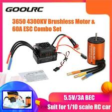 GoolRC Upgrade 3650 4300KV Brushless Motor With 60A ESC Combo For 1/10 RC Truck