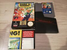 VINTAGE  1993  NES. MARIO IS MISSING GAME.  BOXED