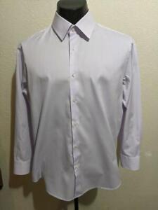 HUGO BOSS Solid Lt.Purple Tonal Pattern Cotton Dress Shirt    16.5 x 32/33