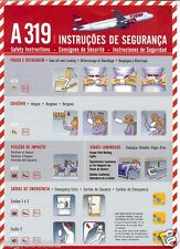 Safety Card - TAM - A319 - 2008  (S2256)