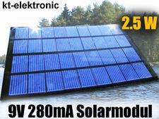 1 Stück 9V 280mA 2,5W 177x114mm Solarmodul Solarzelle Polykristallin vergossen