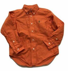 Polo Ralph Lauren Boy's Orange Button Shirt size 4 4T Orig.$39