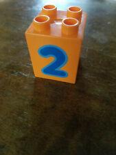 LEGO DUPLO NUMBER  Train Replacement 2 x 2 x 2 BLOCK  # 2 Building Brick