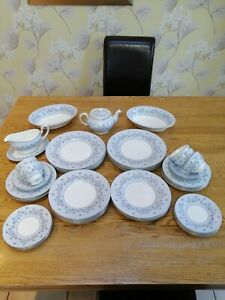 51 piece vintage Minton MISTY GREY dinner service - unused