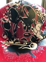 Mickey Mouse DJ Hat Men's OSFM Disney Parks Headphones Baseball Cap Red Black