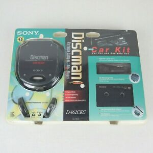 Vintage Sony Discman Portable Compact Disc Player D-162CK w/Car Kit *New Sealed