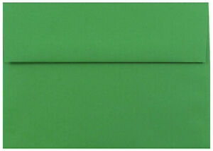 Holiday Green 50 Premium Envelopes for Greeting Cards Invitations Announcements