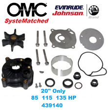 "BRP Johnson Evinrude Water Pump Kit 85 115 135 HP 20"" 1973-77 Housing 0439140"