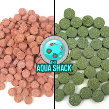 Stick On Glass Fish Food Treats | Spirulina Algae Plankton Shrimp Tablets Tank