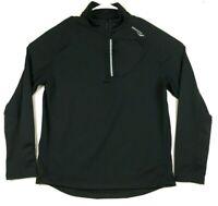 Saucony Drylete Long Sleeve 1/4 Zipper Black Pullover Running Jacket Mens Medium