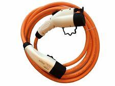 CITROEN C-ZERO ev Cable de carga rápido 32amp 5 M naranja tipo 2 al tipo 1 + Estuche