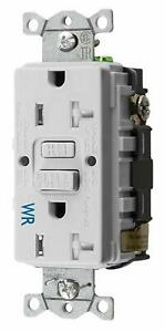 Hubbell GFTWRST20W 20 Amp 125V Self Test Duplex Receptacle
