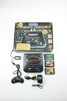 SEGA MEGA DRIVE II 2 Game Console in Original Box TESTED WORKING Rare 3 GAMES
