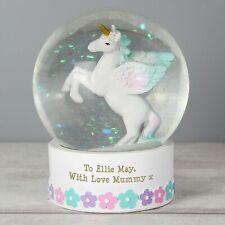 Personalised Unicorn Snow Globe