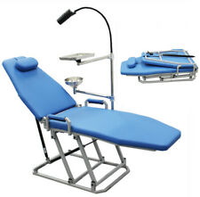 Portable Dental Chair Folding Chair With 5w Led Operation Light Cuspidor Tray Us