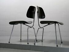 COPPIA (2x) Dining Chair, DCM, Charles Eames Di Herman Miller Vitra, metallo pieno