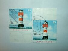 2004 GERMANY ROTER SAND LIGHTHOUSE SHEET STAMPS P14 x 2 VFU (sg3280)