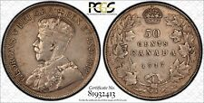 Canada 1917 Silver 50 Cents PCGS XF-40