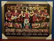 Queensland 2013 Maroon Magic State of Origin Limited Edition Print Framed NRL