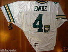 BRETT FAVRE 4 AUTOGRAPHED WILSON AUTHENTIC PRO LINE GREEN BAY PACKERS JERSEY COA