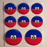 Autocollants Haïti Adhésif Drapeau Haïti 3D Résine Relief Autocollant Rond Moto