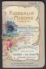 CALENDARIETTO FLOREALIA MIGONE 1914 vol. 12° SENZA Calendario FIORI OLD CALENDAR