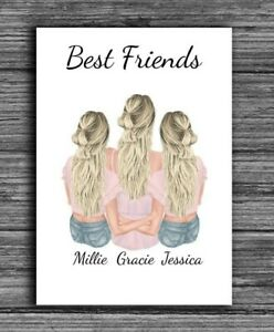 Personalised Friends Gifts, Best Friends Prints/Cards Friendship Present