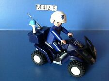 (M428) playmobil quad à friction police ref 3655