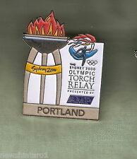 PORTLAND  2000 OLYMPIC AMP TORCH RELAY PIN