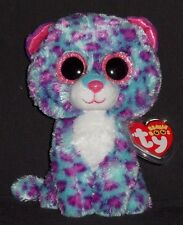 "TY BEANIE BOOS - DREAMER the 6"" SNOW LEOPARD (JUSTICE EXCLUSIVE) -  MINT TAG"