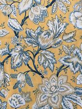 Raymond Waites 70 Round Table Cloth Floral Jacobean Orange Yellow