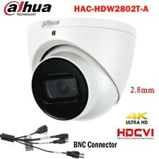 4K 8MP Starlight Dahua HDCVI IR Dome Eyeball Camera HAC-HDW2802T-A with 2.8mm