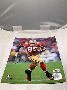 Vernon Davis Signed San Francisco 49ers 8x10 Photo Autographed PSA/DNA COA 1A