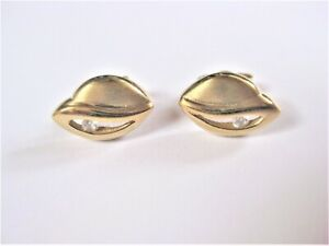 Earrings Gold 585 With Zirconia, 2,26 G