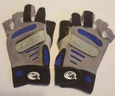 NEW Women's Small Bionic Half Finger Gloves Dycem Wheelchair Blue Black Gray