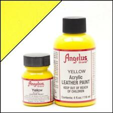 Angelus Acrylic Leather Paint Yellow 4oz Colour for Shoes/Sneakers/Jacket/Case