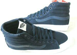 Vans Sk8-Hi Reissue 13 Canvas Dress Blues White Classic Skate shoes Size 10.5
