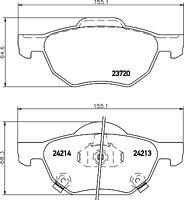 Mintex Front Brake Pad Set MDB2599  - BRAND NEW - GENUINE - 5 YEAR WARRANTY