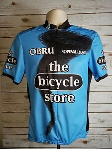 PEARL IZUMI Blue 3/4 Zip The Bicycle Store Top Jersey Sz Medium Unisex