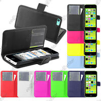 Housse Etui Coque Portefeuille Simili Cuir Apple iPhone 5C