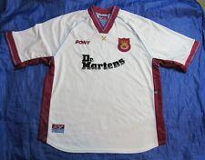 West Ham United MARTELLI AWAY SHIRT Pony 1998-1999 Dr. Martens WHU Adulto Taglia XL