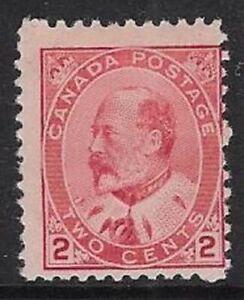 Canada 2¢ Carmine, Type II 1903 Edward VII Sc #90, F, MNH, CV $40.00 - dw18n
