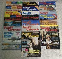 Lot of 19 Family Chronicle Magazine Trace Ancestors Family History Genealogy