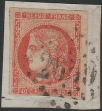 "FRANCE STAMP TIMBRE N° 48 e "" BORDEAUX 40c ORANGE VERMILLONNE "" OBLITERE SIGNE"