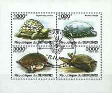 Timbres Reptiles Tortues Burundi BF163 o année 2011 lot 26596 - cote : 18 €