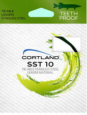 Cortland (SST10) - 10' Tie-Able Tooth Proof Stainless Steel Leader - 10Lb Test