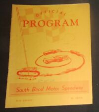 1963 South Bend Motor Speedway Program