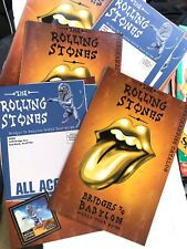 FIVE Rolling Stones 97-Bridges To Babylon 19 Page Tour Merchandise Catalogs-MINT